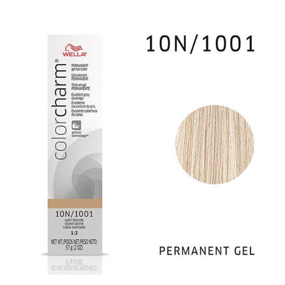 WELLA Color Charm Permanent Gel Color Satin Blonde 1001