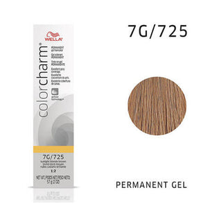 WELLA Color Charm Permanent Gel Color Sunlight Blonde Brown 725