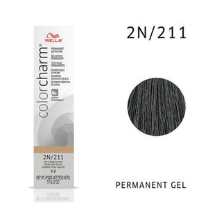 WELLA Color Charm Permanent Gel Color Very Dark Brown 211