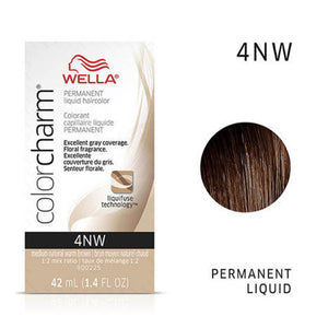 WELLA Color Charm Permanent Liquid Color Medium Natural Warm Brown 4NW