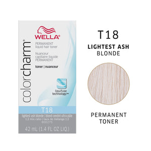 WELLA Color Charm Permanent Liquid Toner Lightest Ash Blonde T18