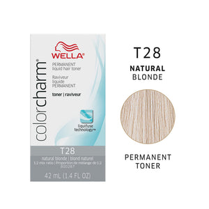 WELLA Color Charm Permanent Liquid Toner Natural Blonde T28