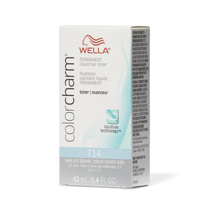 WELLA Color Charm Permanent Liquid Toner Pale Ash Blonde T14