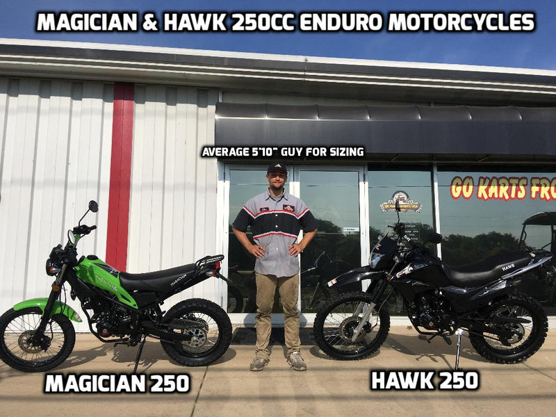 RPS Hawk 250 Enduro Motorcycle & RPS Magician 250 Enduro Motorcycle - Does Size Matter?