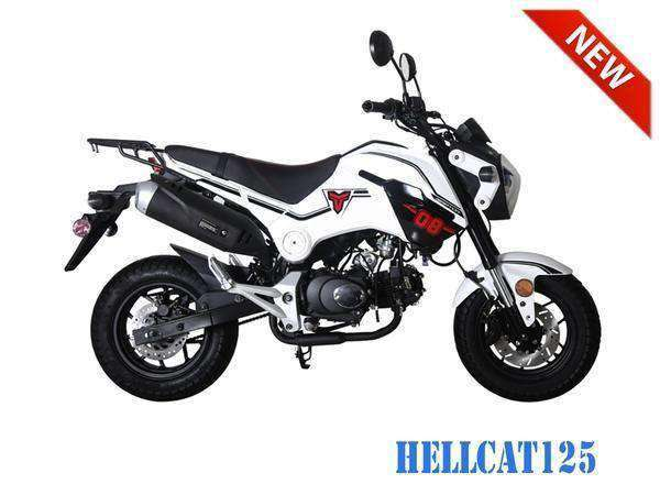 Hellcat 125cc Scooters with free shipping