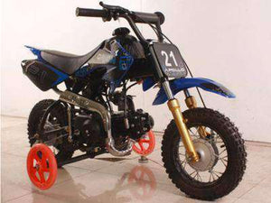 70cc Apollo Spider Gas Powered Kids Dirt Bikes with training wheels - Q9PowerSportsUSA.com