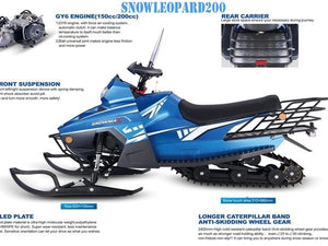 180cc Snowmobiles for Kids