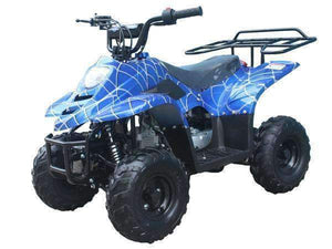 Blue Spider Web Small Kids ATVs