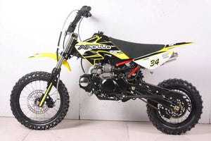 Yellow 110cc Apollo DB34 Kids Dirt Bikes