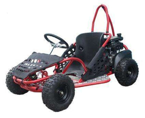 Small GK80 Single Seat 80cc Gas Powered Kids Go kart - Q9PowerSportsUSA