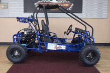 Blue 110cc Double Seat Kids Go Karts