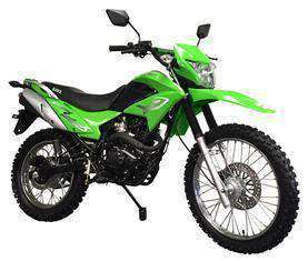 Green RPS Hawk 250 enduro motorcycles