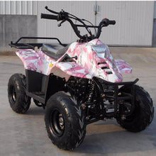 Pink Spider Web Small Kids four wheelers