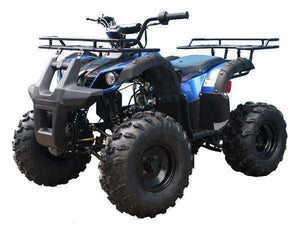 Blue gas powered Youth Four Wheelers