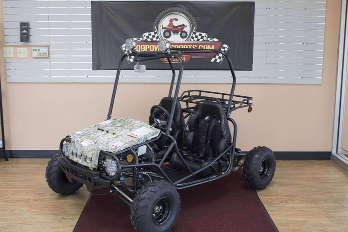 2019 Jeep Style 125cc Double Seat Youth Go Karts - Q9PowerSportsUSA.com