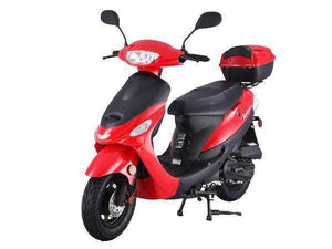 Red Campus Cruiser Gas Powered 50cc Mopeds - Q9PowerSportsUSA
