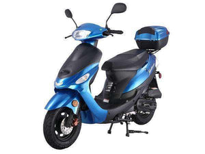 Blue Campus Cruiser Gas Powered 50cc Mopeds - Q9PowerSportsUSA