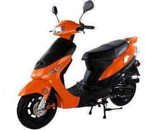 Orange Campus Cruiser Gas Powered 50cc Mopeds - Q9PowerSportsUSA