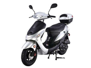 Silver gas powered 50cc Scooters