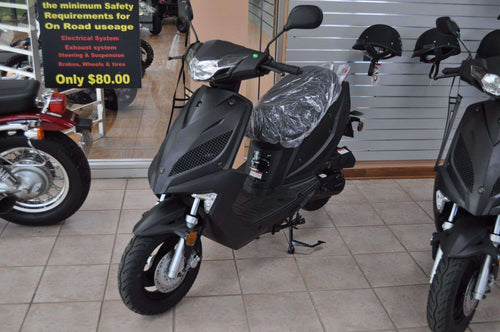 New Transformer Gas Powered 50cc Moped - Q9 PowerSports USA