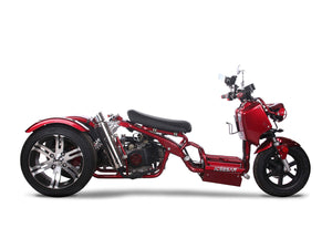 Metallic Red 150 Maddog Trike Scooter