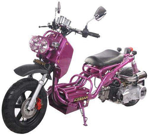 Purple Gas Powered 50cc Maddog Scooters