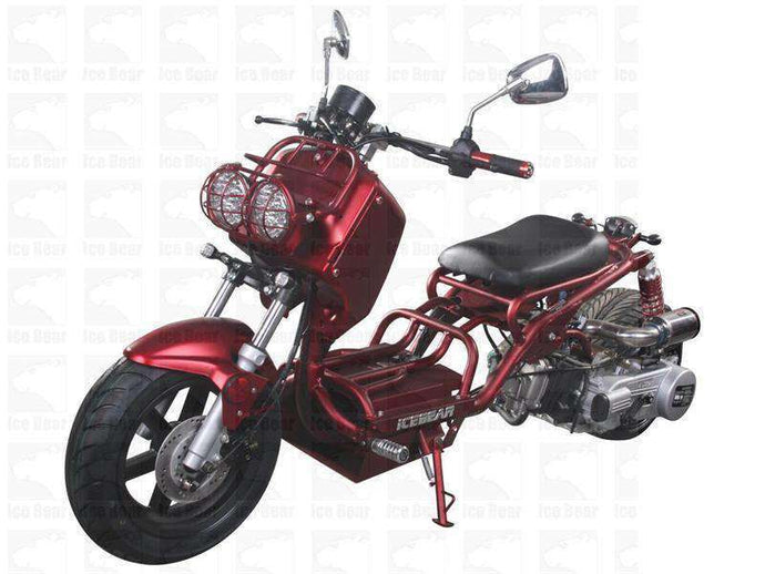 Metallic Red 50cc Maddog Scooters