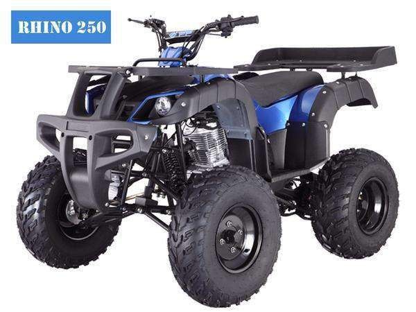 new rhino 250 utility four wheeler atv with free shipping
