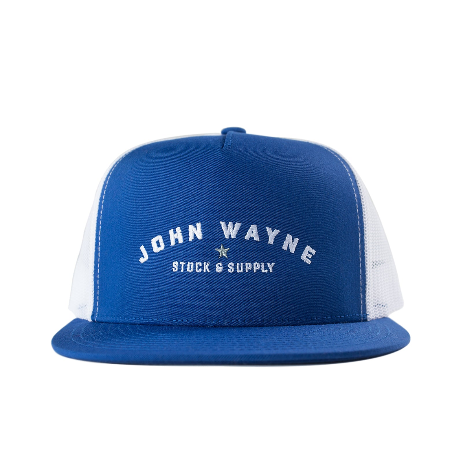 Type Trucker Hat - Royal/White
