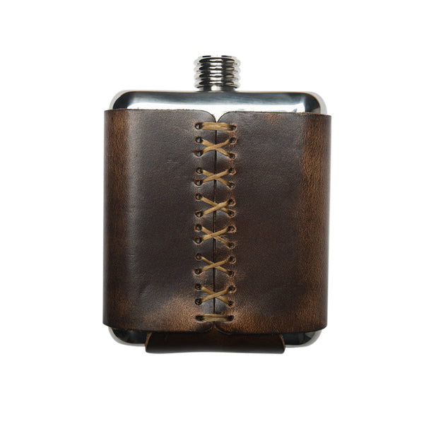 JW Dependable Leather Flask