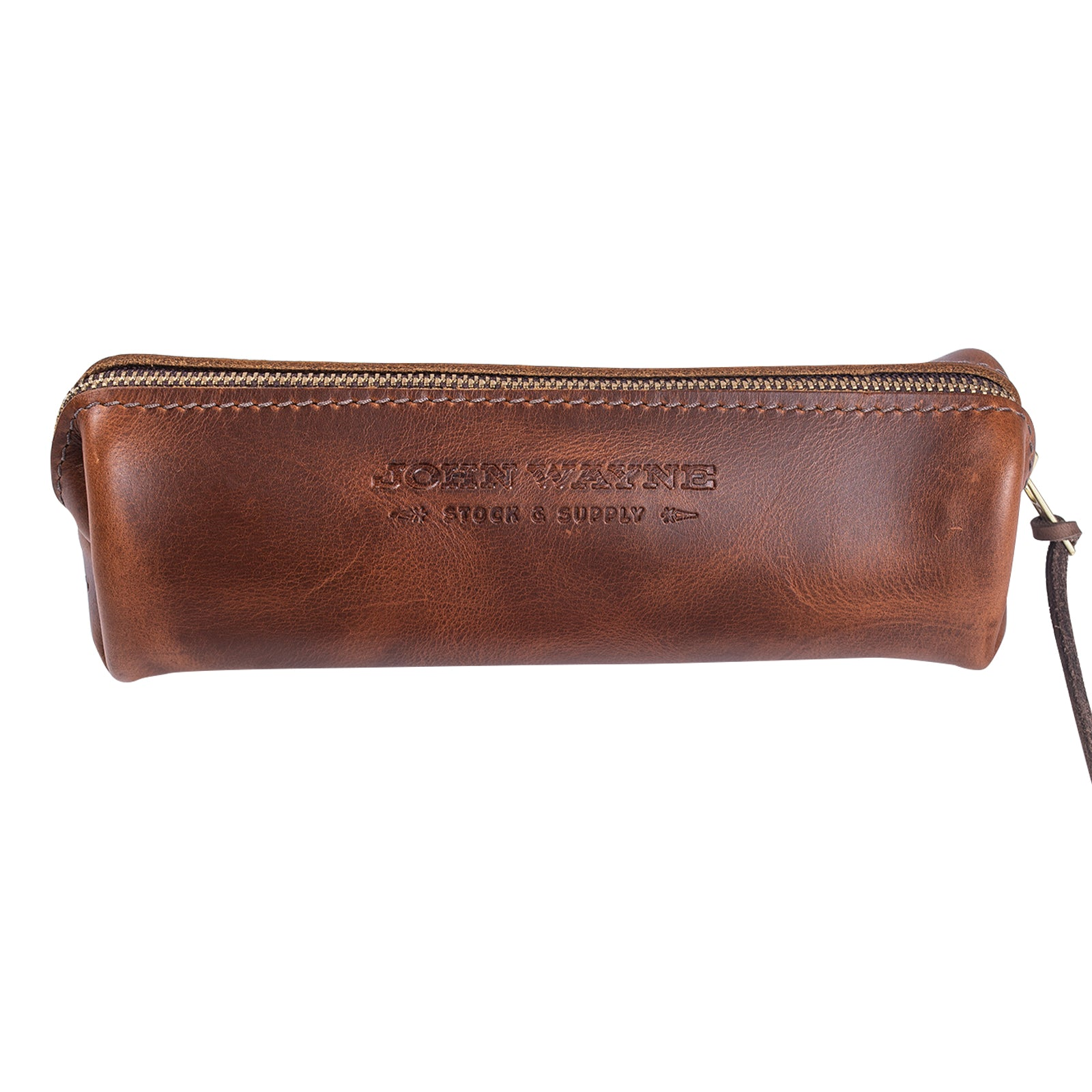 Official John Wayne John Wayne Zippered Leather Pouch