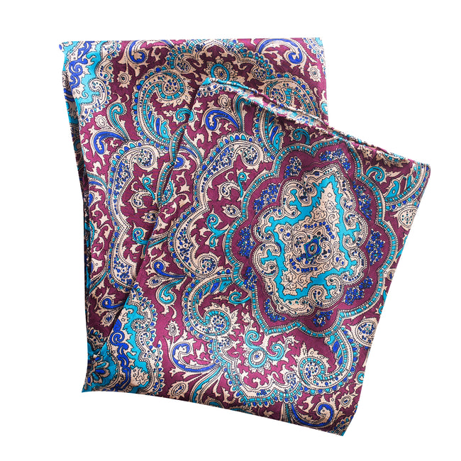 Paisley Red/Gold Silk Scarf