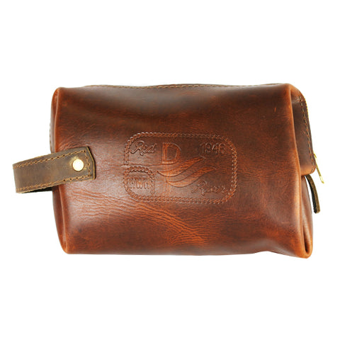 John Wayne Zippered Leather Pouch