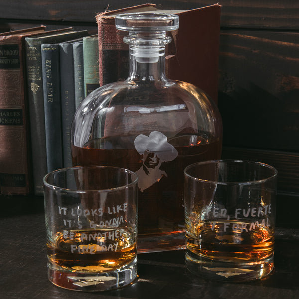 Portrait Quote Decanter Set