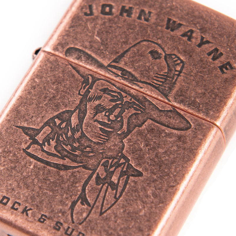 JW Sketch Antique Copper Zippo Lighter