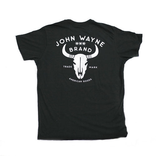 Official John Wayne Black Skull Tee