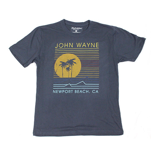 Official John Wayne Men's Navy Line Tee