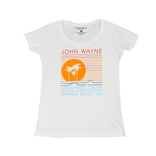Official John Wayne Women's White Line Tee