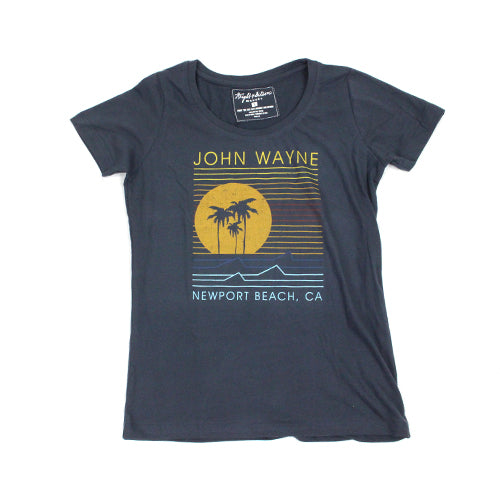 Official John Wayne Women's Navy Line Tee
