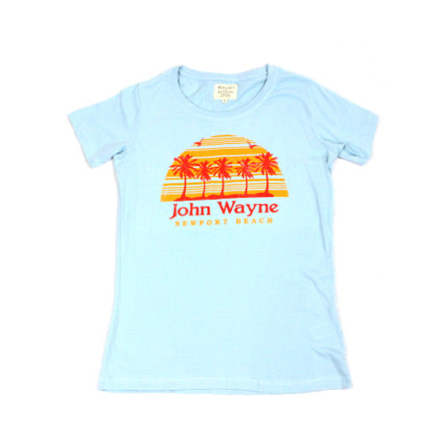 Official John Wayne Women's Blue Retro Tee