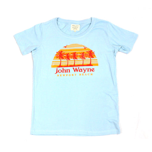 Official John Wayne Men's Blue Retro Tee