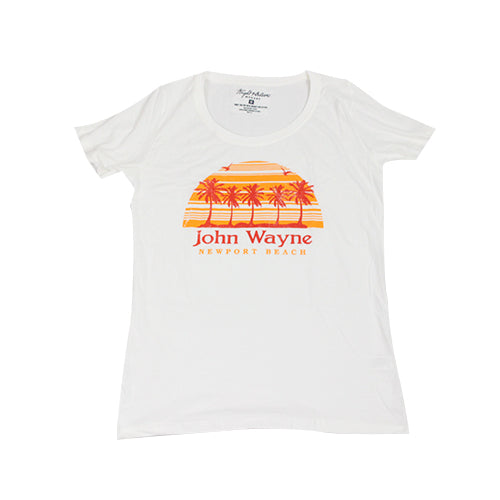 Official John Wayne Women's White Retro Tee