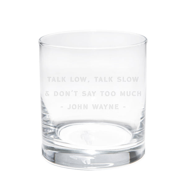 Quote Whiskey Glasses #6 - Set Of 2