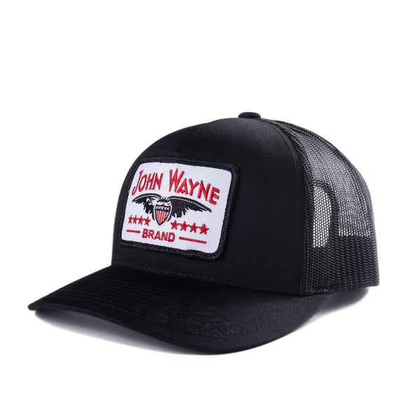 Curve Bill Stamp Trucker Hat