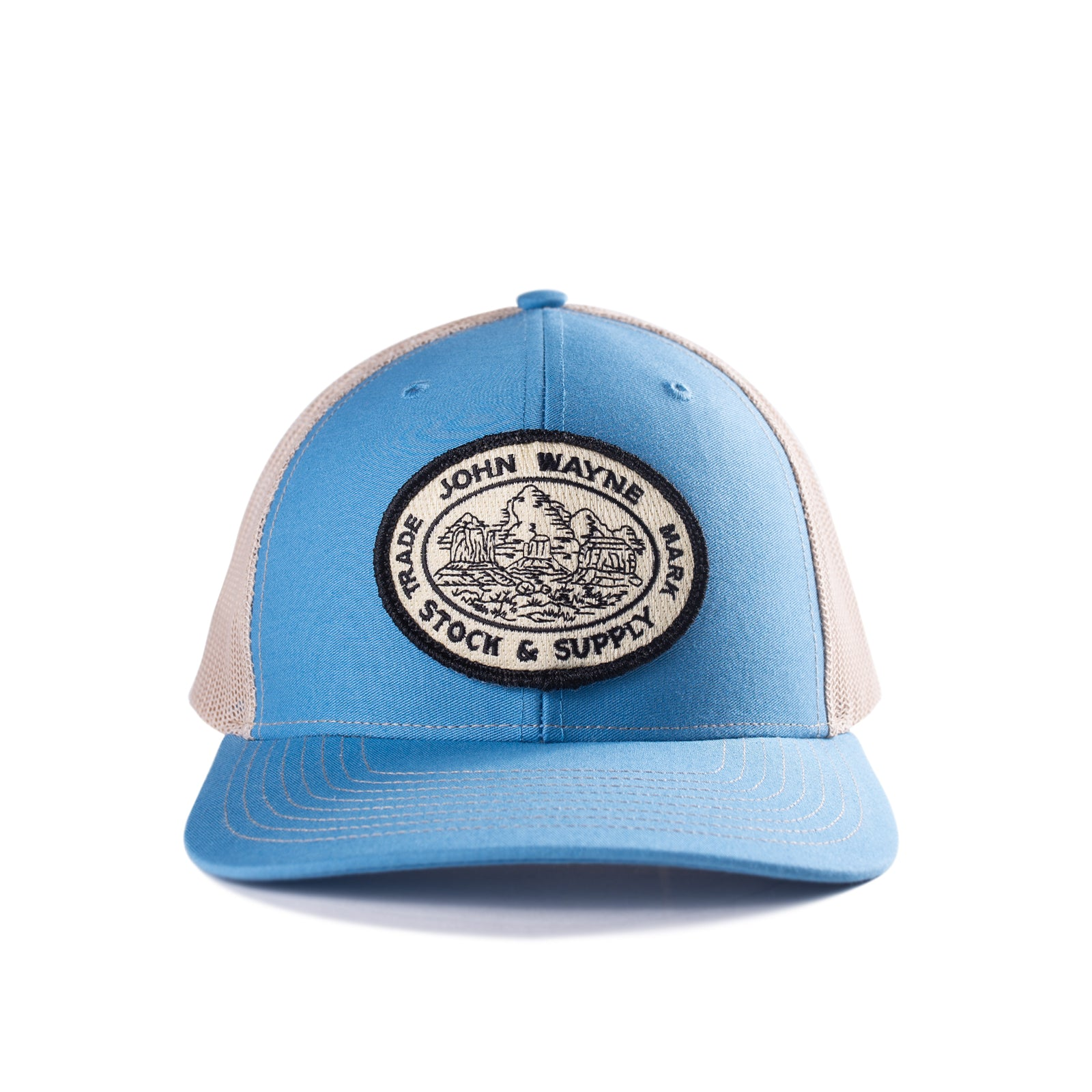 Stock & Supply Hat- Light Blue