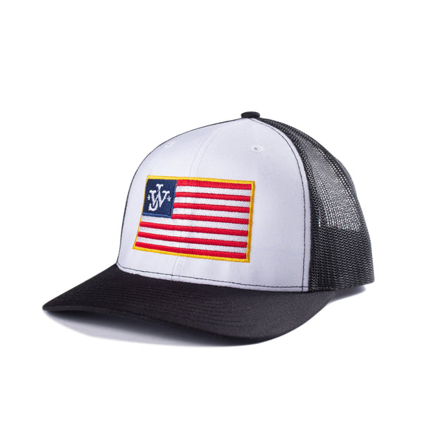 JW USA Trucker Hat - White/Black