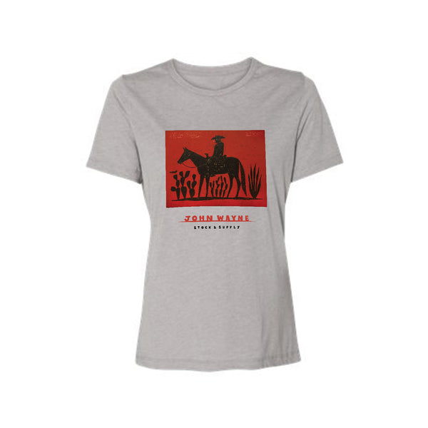 Women's Lone Rider Tee - Charcoal