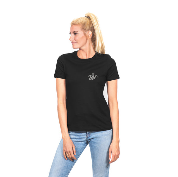 Women's Looking Back Quote Black Tee