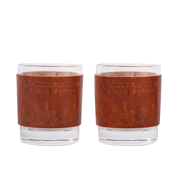 JW Cactus Leather Whiskey Set