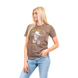 JW Women's Sketch Tee- Brown